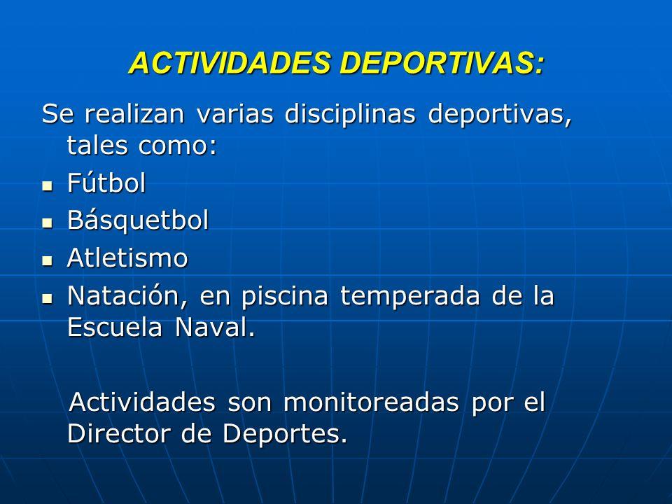 ACTIVIDADES DEPORTIVAS: