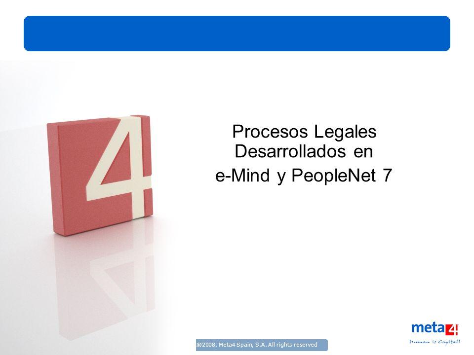 Procesos Legales Desarrollados en e-Mind y PeopleNet 7