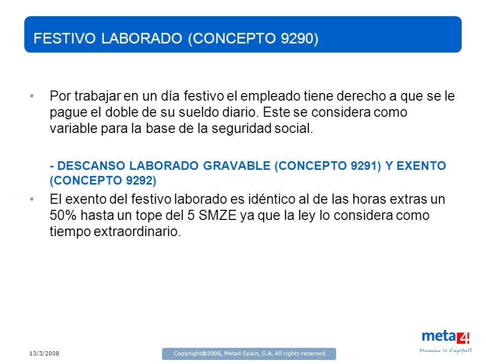 FESTIVO LABORADO (CONCEPTO 9290)