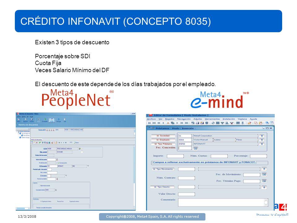 CRÉDITO INFONAVIT (CONCEPTO 8035)