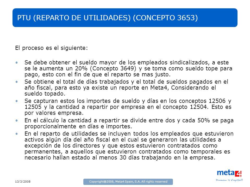 PTU (REPARTO DE UTILIDADES) (CONCEPTO 3653)