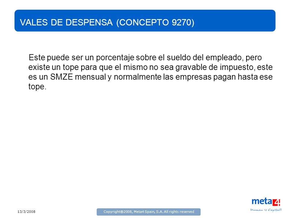 VALES DE DESPENSA (CONCEPTO 9270)