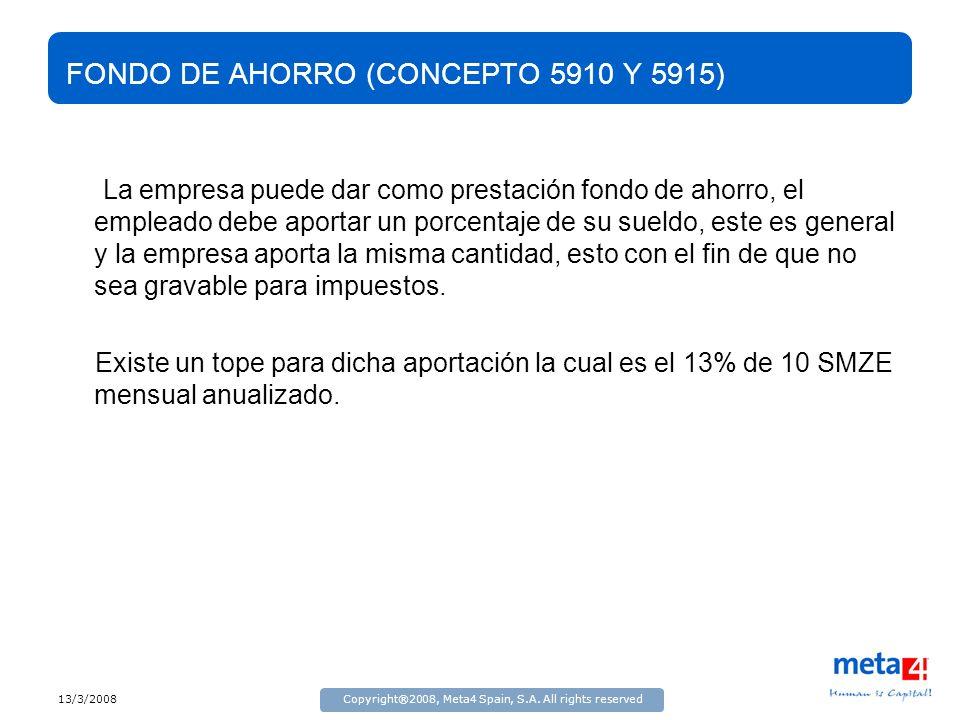 FONDO DE AHORRO (CONCEPTO 5910 Y 5915)