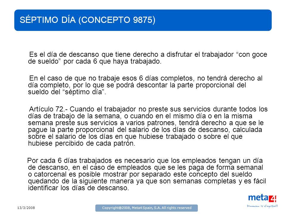 SÉPTIMO DÍA (CONCEPTO 9875)