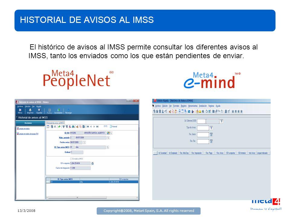 HISTORIAL DE AVISOS AL IMSS