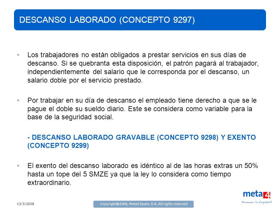 DESCANSO LABORADO (CONCEPTO 9297)