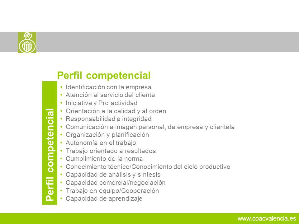 Perfil competencial Perfil competencial 24