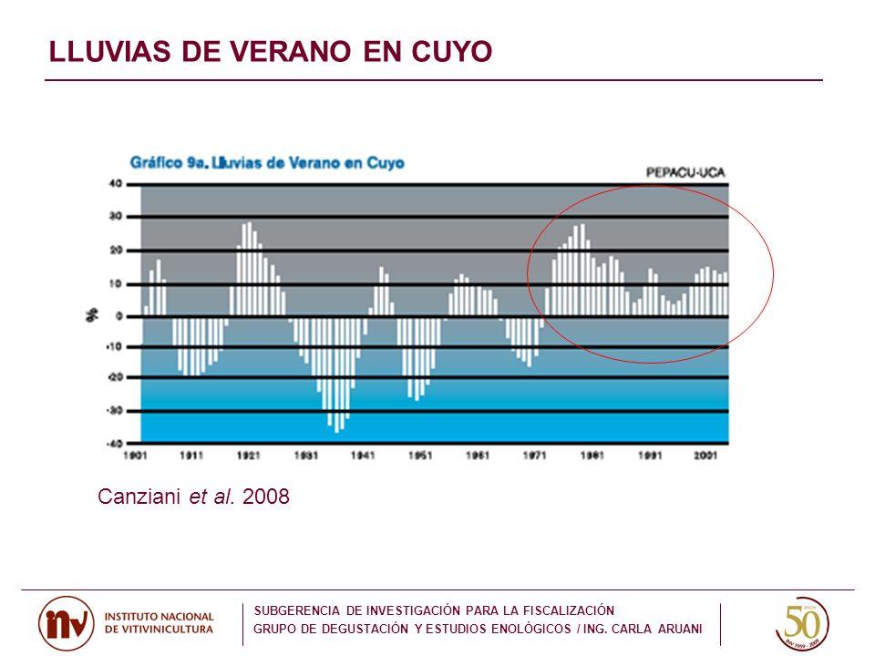 LLUVIAS DE VERANO EN CUYO