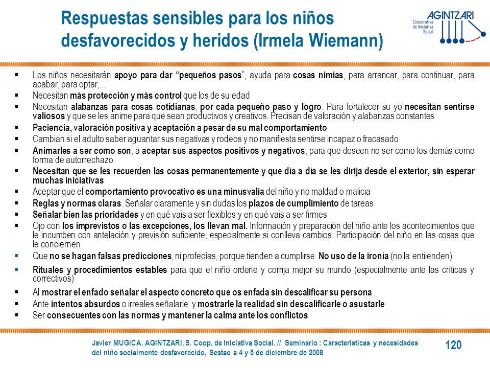Respuestas sensibles para los niños desfavorecidos y heridos (Irmela Wiemann)
