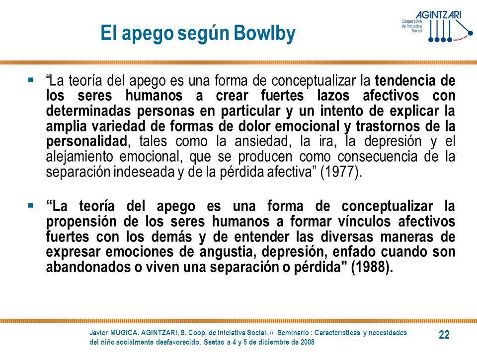 El apego según Bowlby