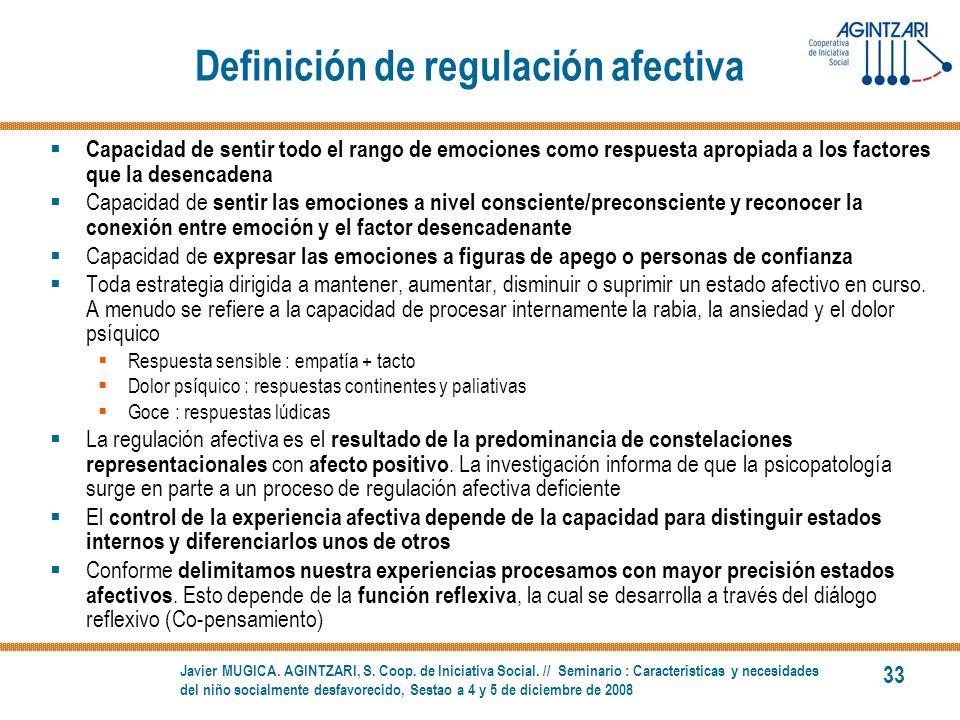 Definición de regulación afectiva