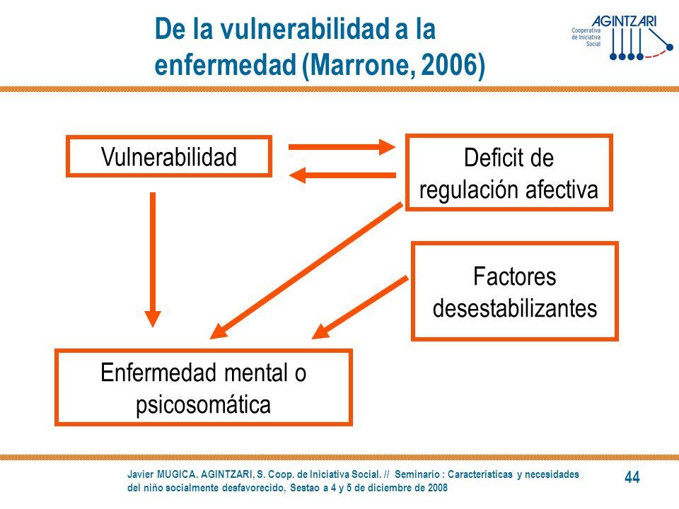 De la vulnerabilidad a la enfermedad (Marrone, 2006)