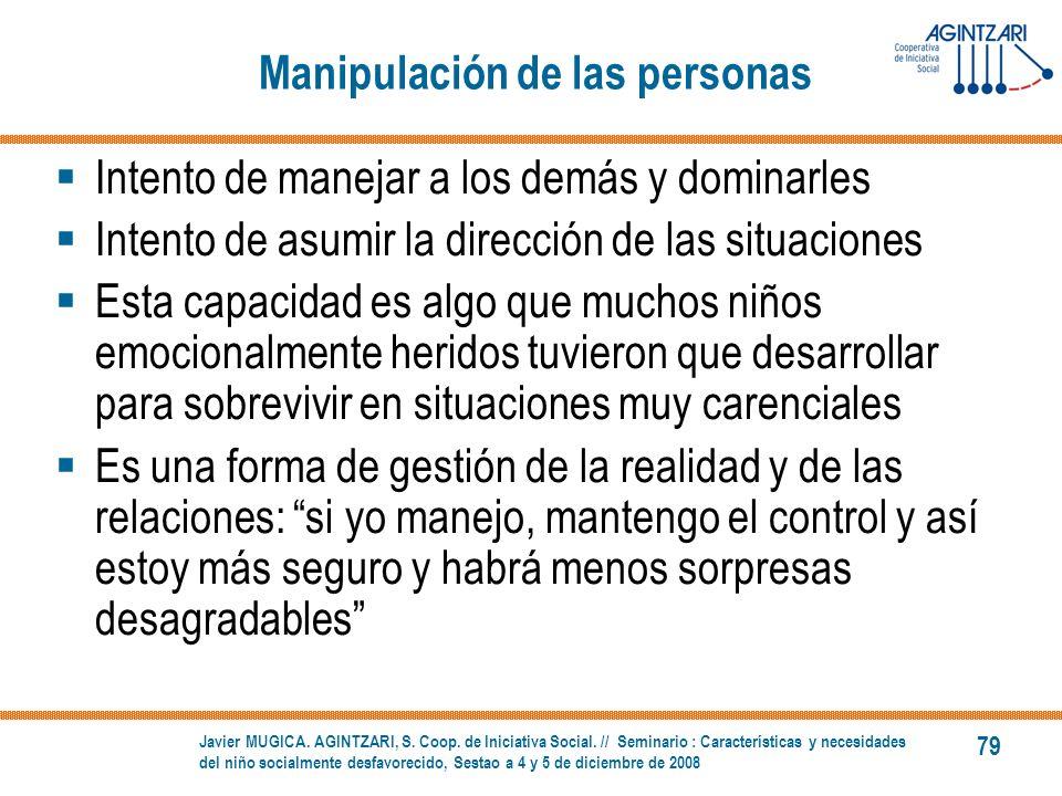 Manipulación de las personas