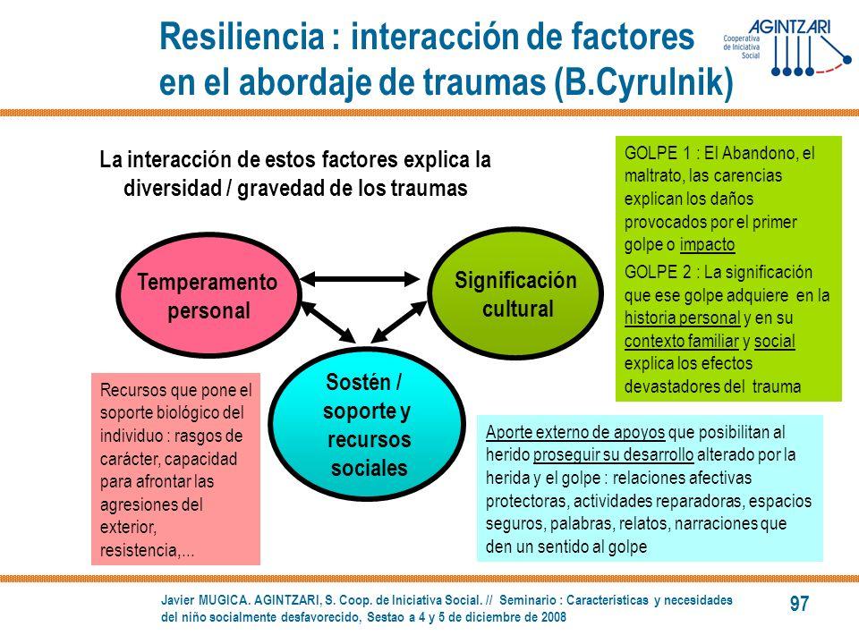 Resiliencia : interacción de factores en el abordaje de traumas (B
