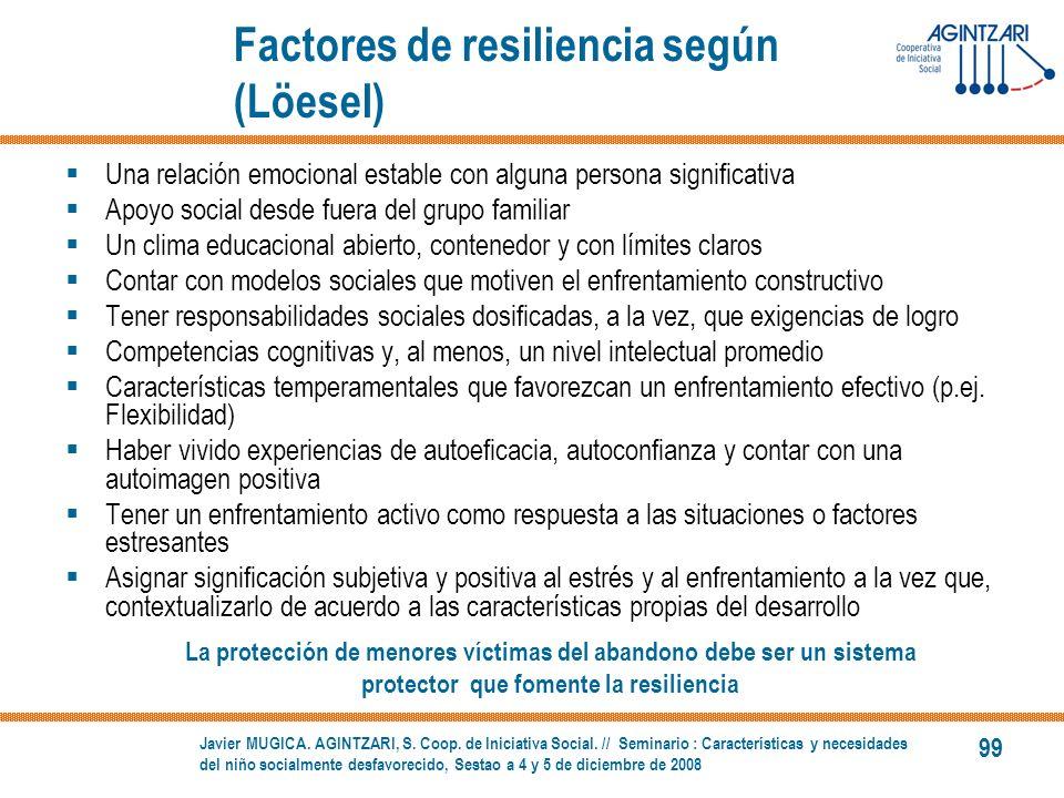 Factores de resiliencia según (Löesel)