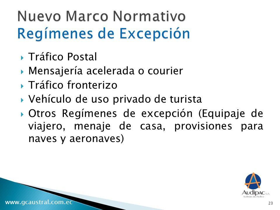 Nuevo Marco Normativo Regímenes de Excepción