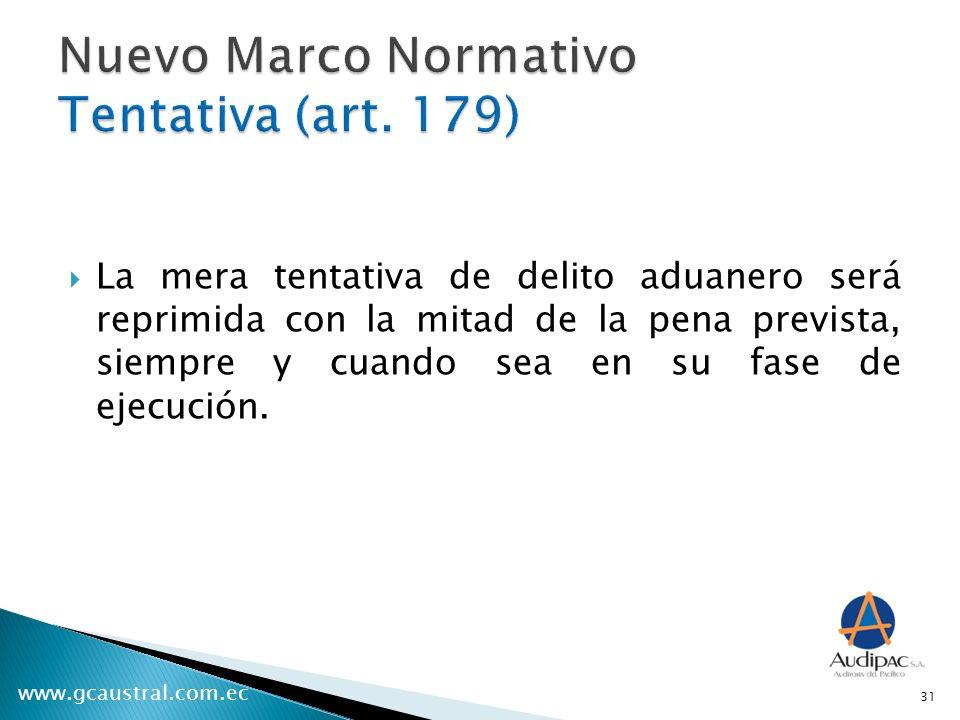 Nuevo Marco Normativo Tentativa (art. 179)
