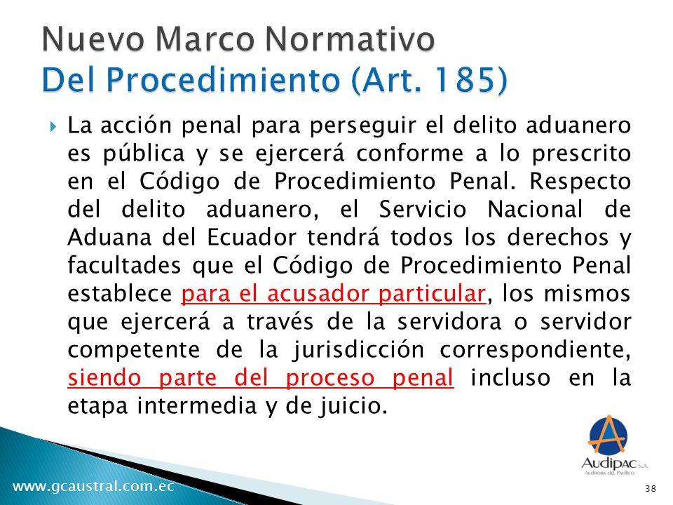 Nuevo Marco Normativo Del Procedimiento (Art. 185)