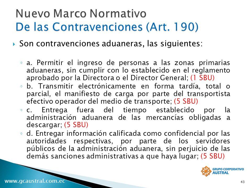 Nuevo Marco Normativo De las Contravenciones (Art. 190)