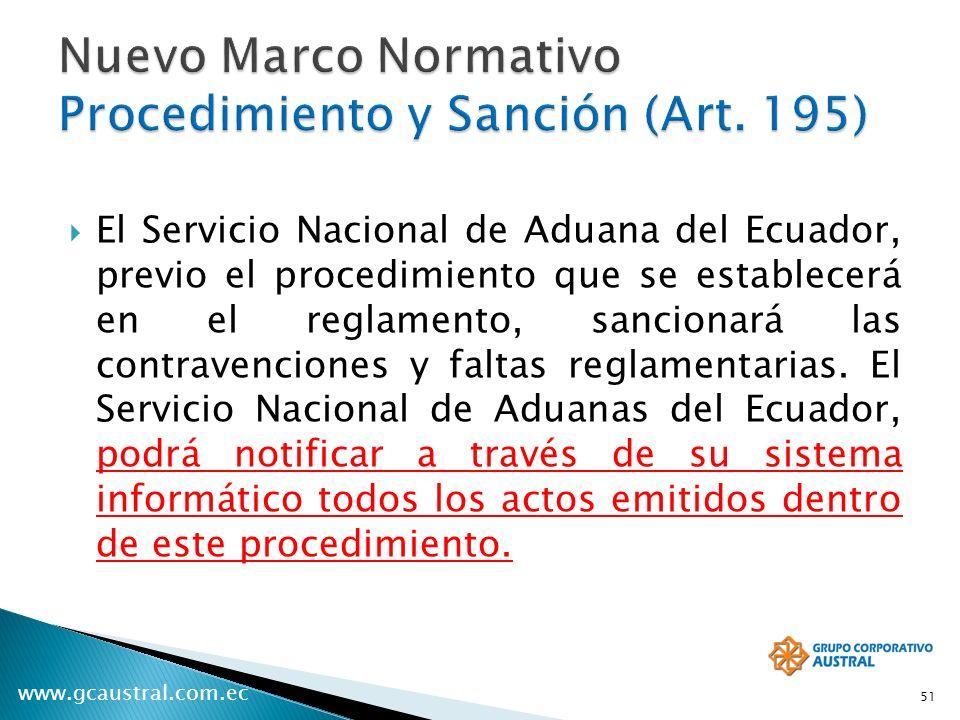 Nuevo Marco Normativo Procedimiento y Sanción (Art. 195)