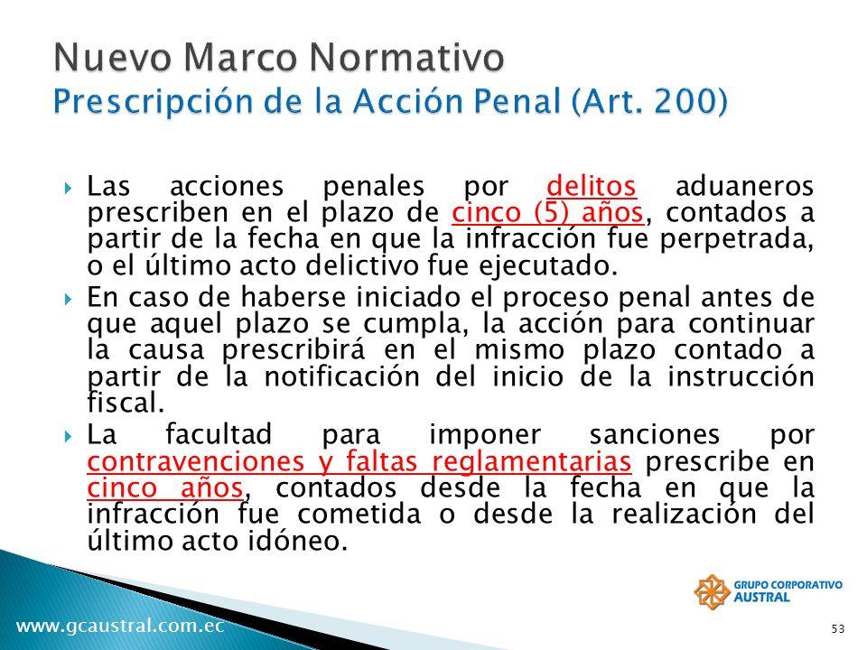 Nuevo Marco Normativo Prescripción de la Acción Penal (Art. 200)