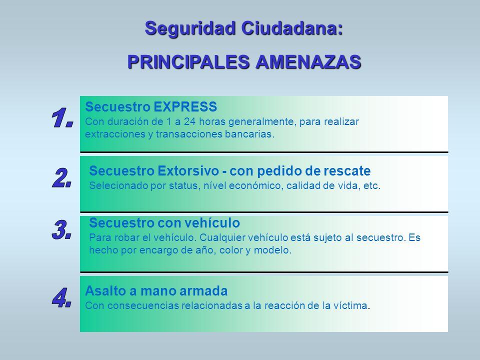 Seguridad Ciudadana: PRINCIPALES AMENAZAS