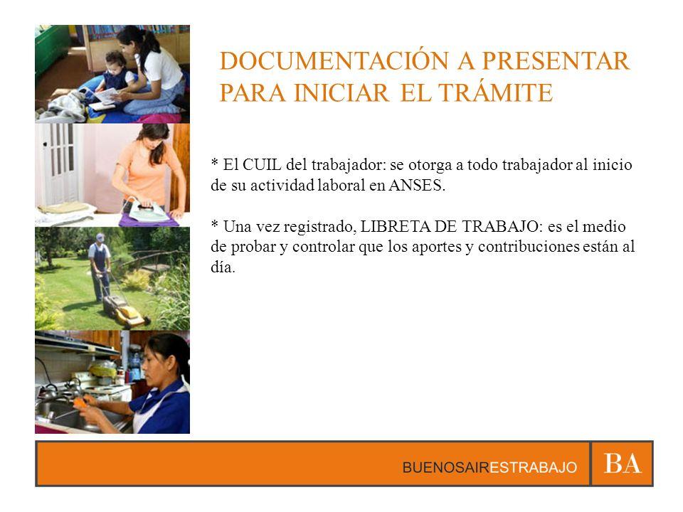 DOCUMENTACIÓN A PRESENTAR PARA INICIAR EL TRÁMITE