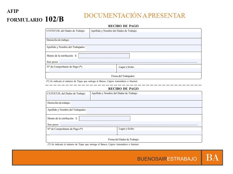 DOCUMENTACIÓN A PRESENTAR