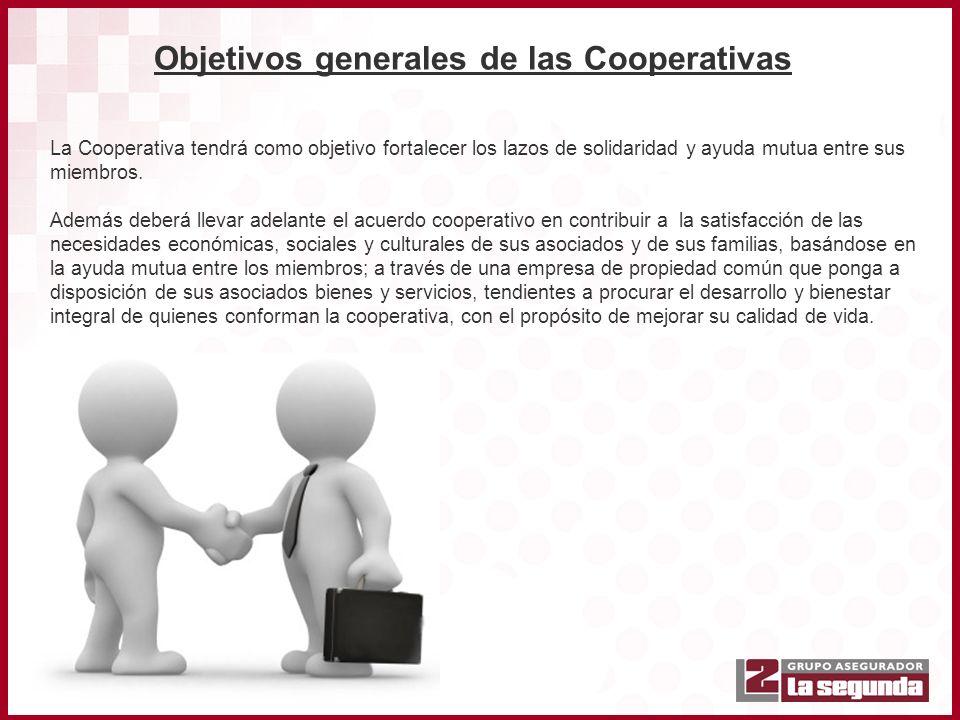 Objetivos generales de las Cooperativas