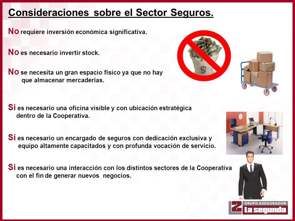 Consideraciones sobre el Sector Seguros.