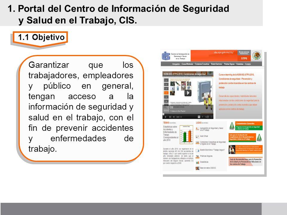 1. Portal del Centro de Información de Seguridad y Salud en el Trabajo, CIS.