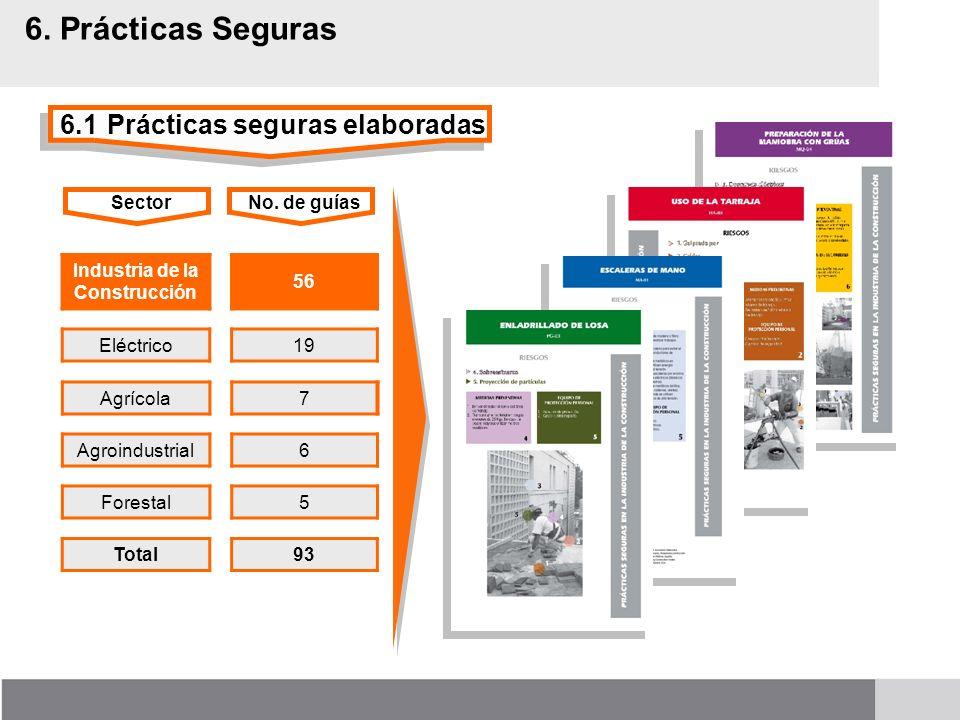 6. Prácticas Seguras 6.1 Prácticas seguras elaboradas Sector
