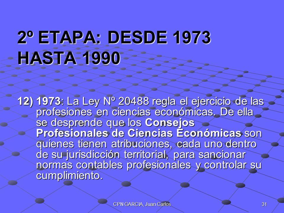2º ETAPA: DESDE 1973 HASTA 1990