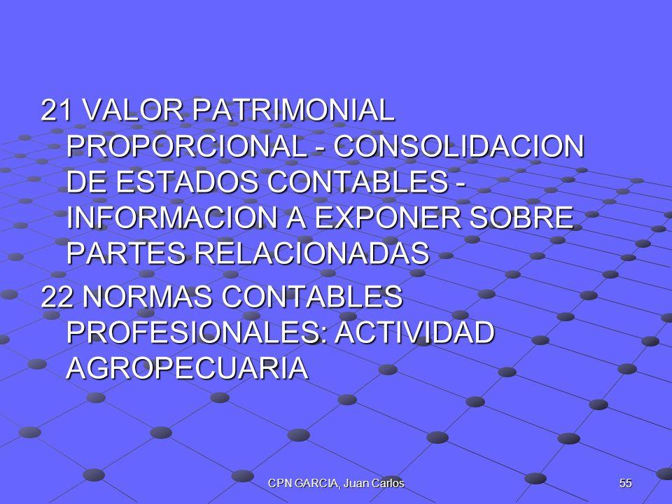 22 NORMAS CONTABLES PROFESIONALES: ACTIVIDAD AGROPECUARIA