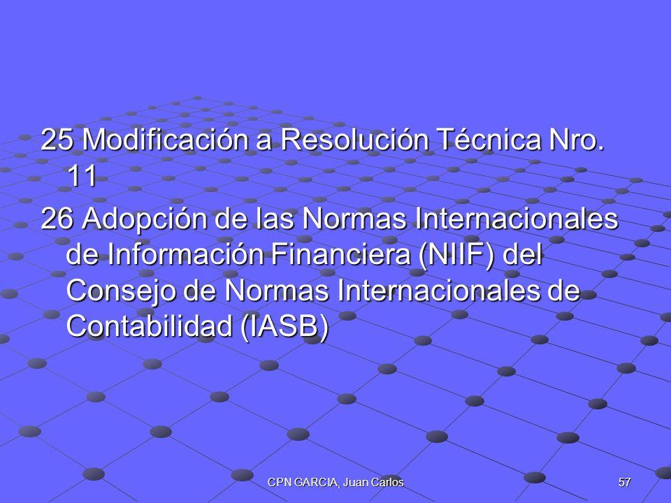 25 Modificación a Resolución Técnica Nro. 11