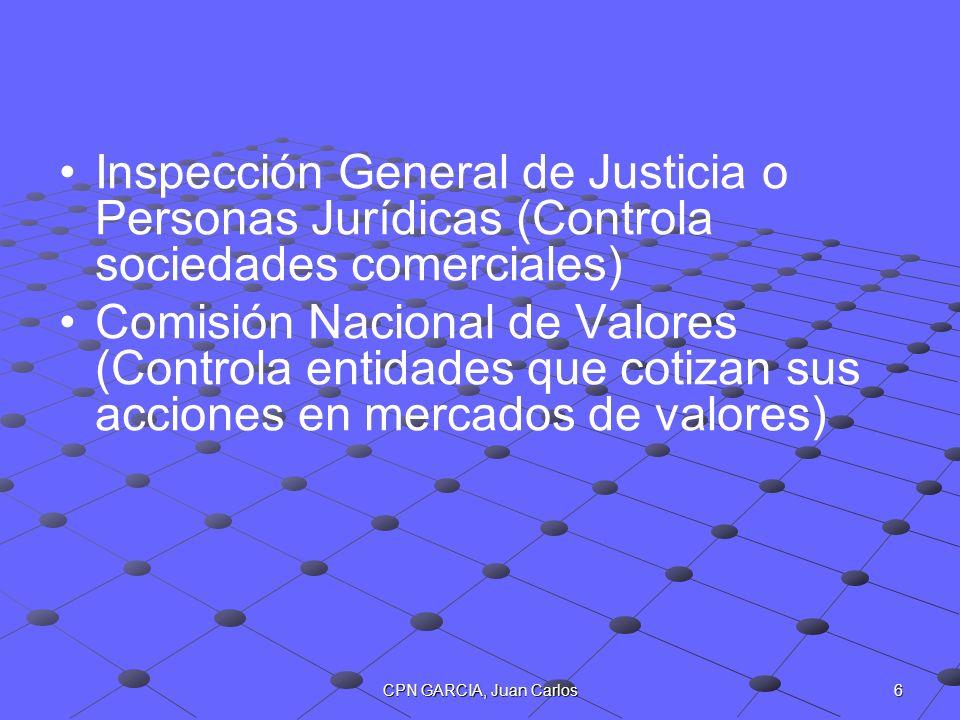 Inspección General de Justicia o Personas Jurídicas (Controla sociedades comerciales)
