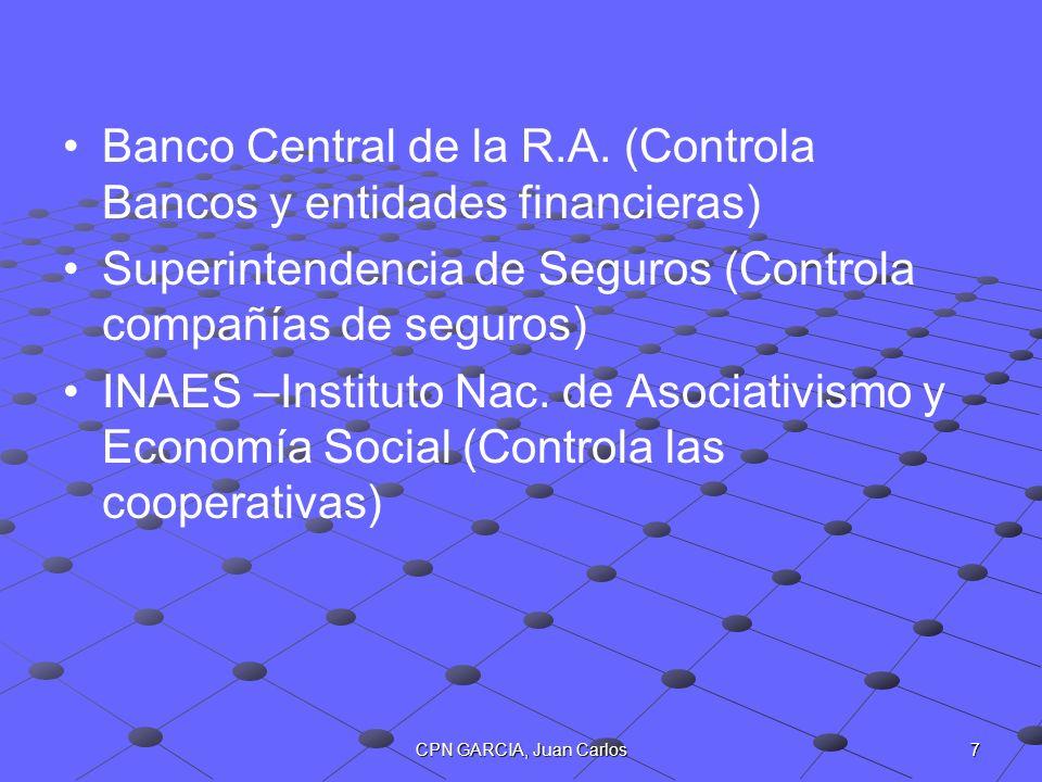 Banco Central de la R.A. (Controla Bancos y entidades financieras)