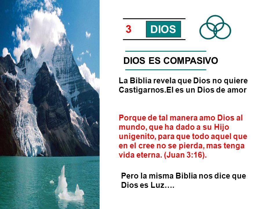 3 DIOS DIOS ES COMPASIVO La Biblia revela que Dios no quiere