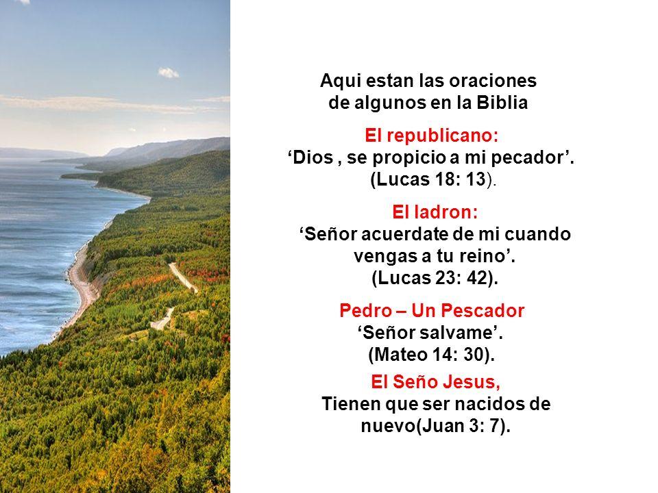 Aqui estan las oraciones de algunos en la Biblia