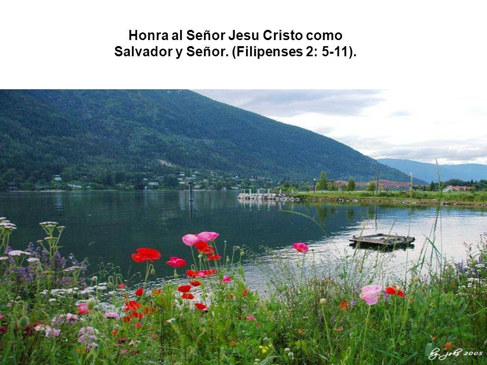 Honra al Señor Jesu Cristo como Salvador y Señor. (Filipenses 2: 5-11).