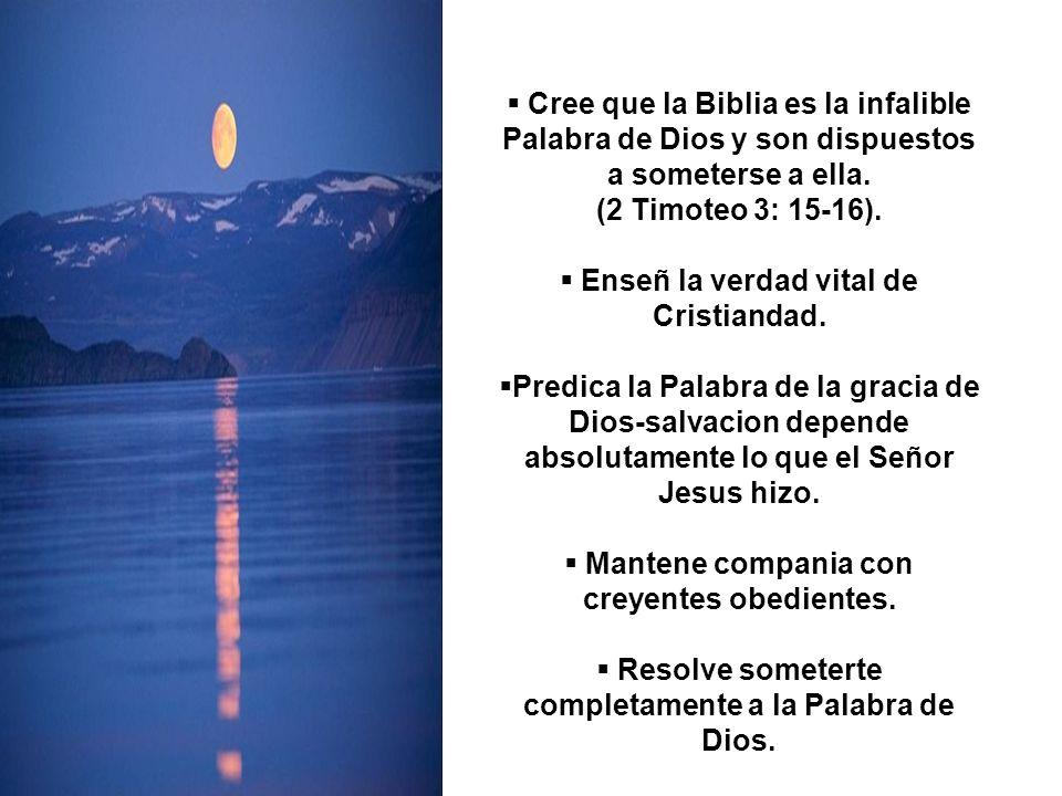 Enseñ la verdad vital de Cristiandad.