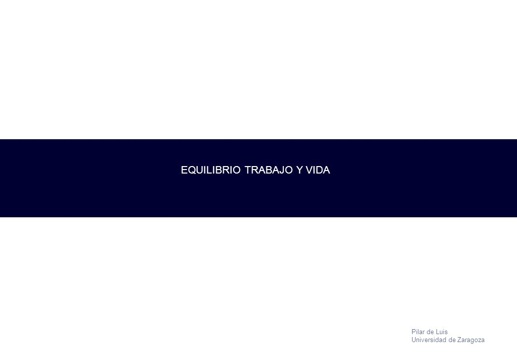EQUILIBRIO TRABAJO Y VIDA