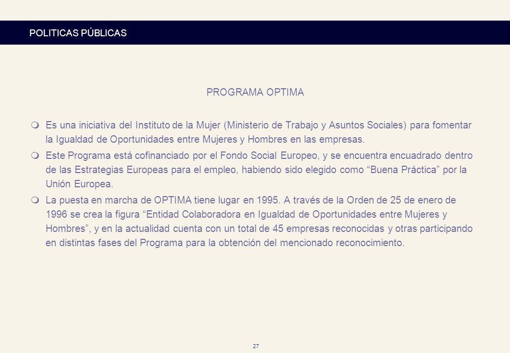 POLITICAS PÚBLICASPROGRAMA OPTIMA.
