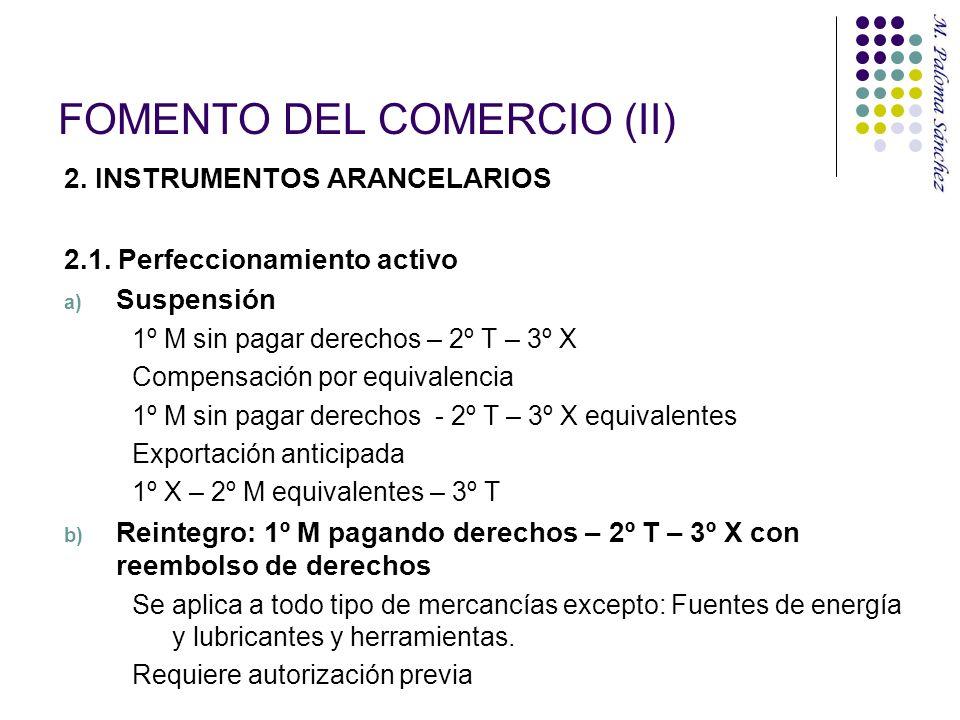 FOMENTO DEL COMERCIO (II)