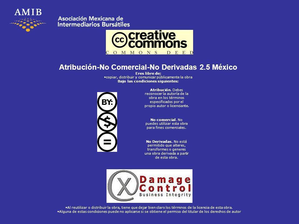 Atribución-No Comercial-No Derivadas 2.5 México