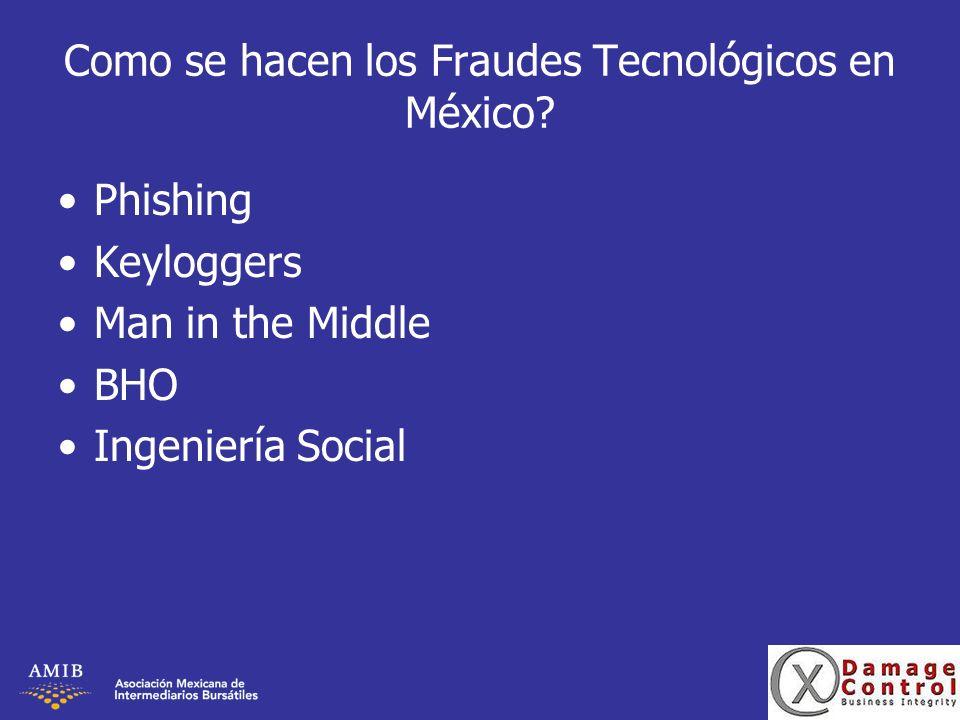 Como se hacen los Fraudes Tecnológicos en México
