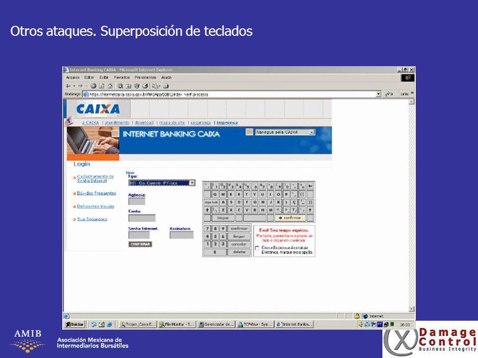 Otros ataques. Superposición de teclados