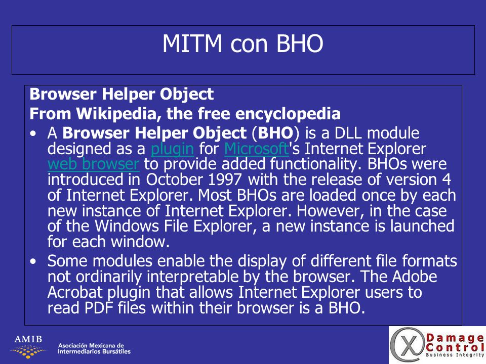 MITM con BHO Browser Helper Object