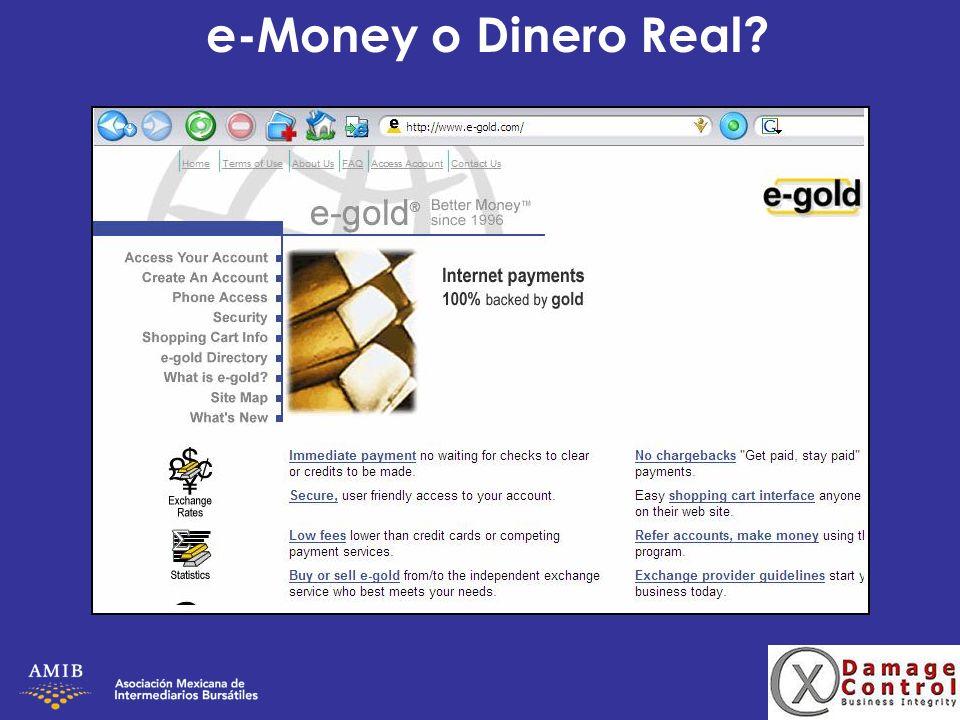 e-Money o Dinero Real