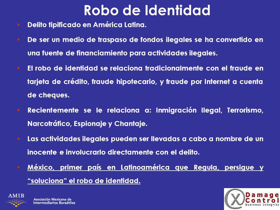 Robo de Identidad Delito tipificado en América Latina.